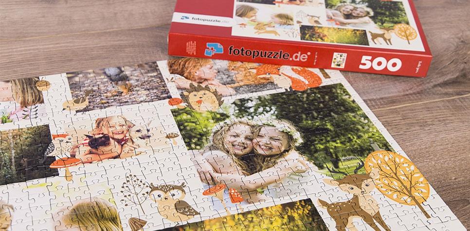 Teaser Fotopuzzle-Collage Illustration