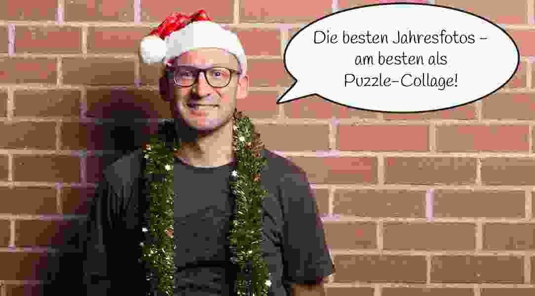 Fotopuzzle-Collage zu Weihnachten