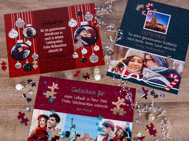 Gutschein zu Weihnachten kreative Geschenkidee