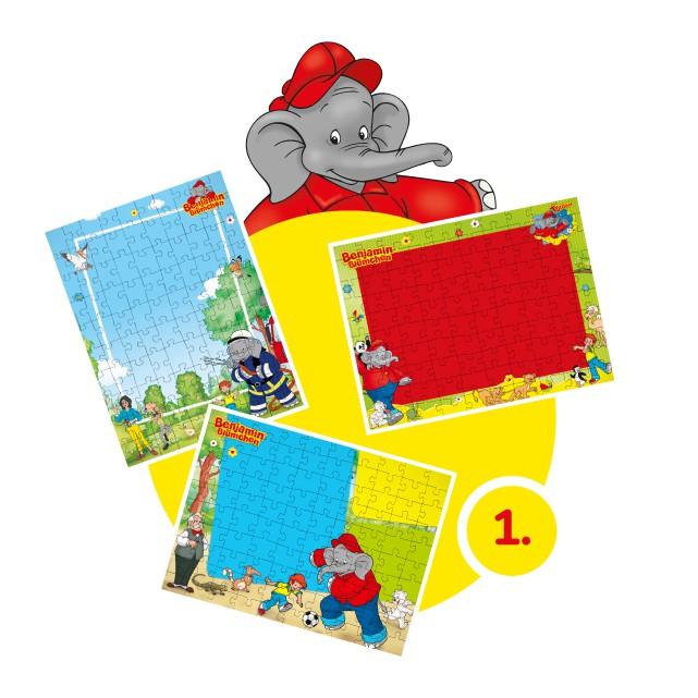 Benjamin-Blümchen-Kinderpuzzle gestalten - Schritt 1