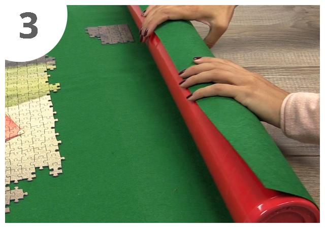 Gebrauchsanweisung Puzzle-Matte Schritt 3