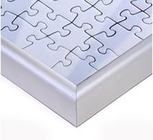 Puzzle-Rahmen für Fotopuzzle; Detailansicht Ecke