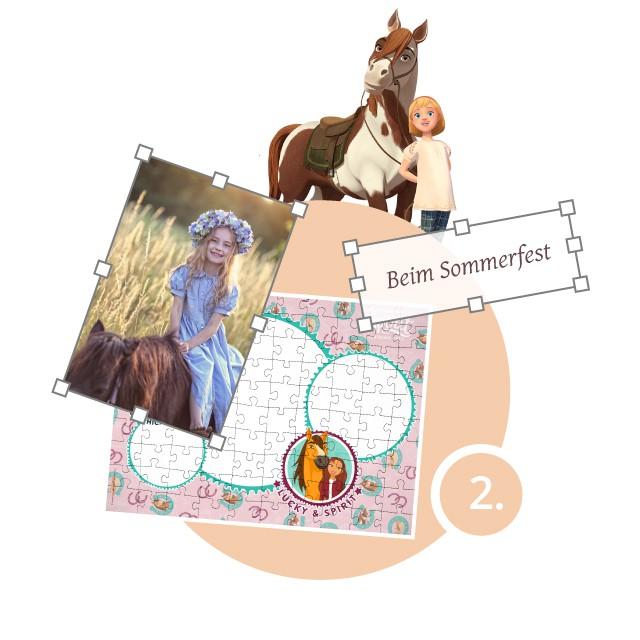 Spirit-Kinderpuzzle gestalten - Schritt 2