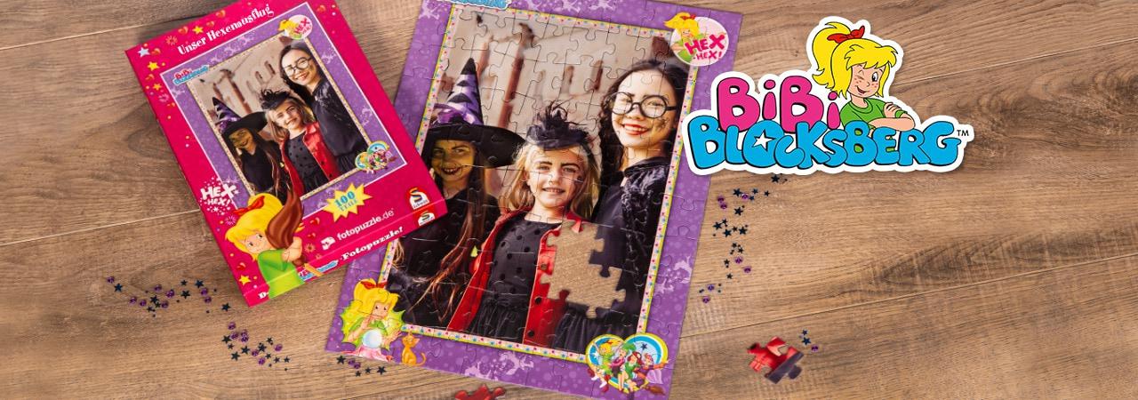 Bibi-Blocksberg-Kinderpuzzle mit eigenen Fotos