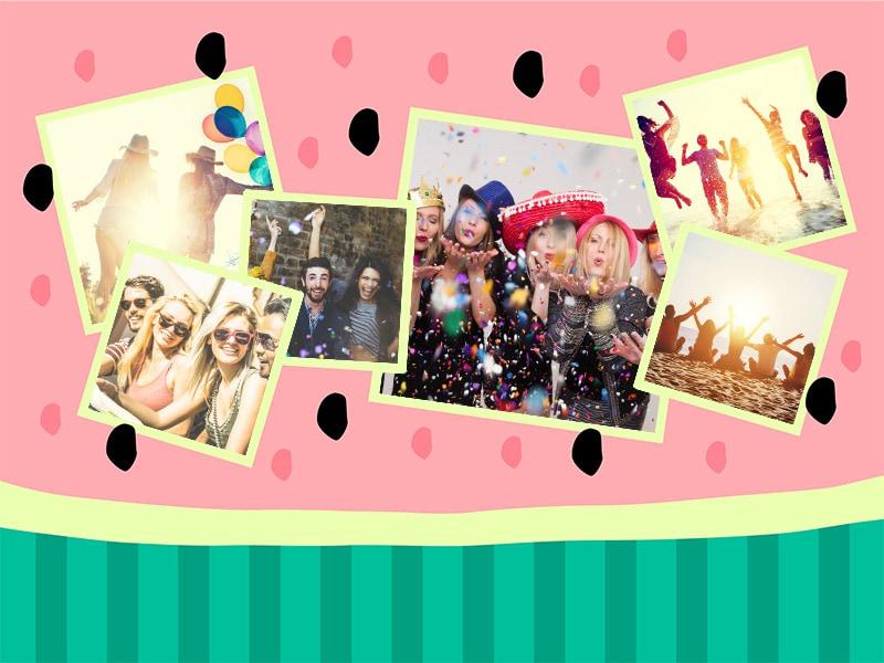 Fotopuzzle-Collage Illustration 6 Bilder
