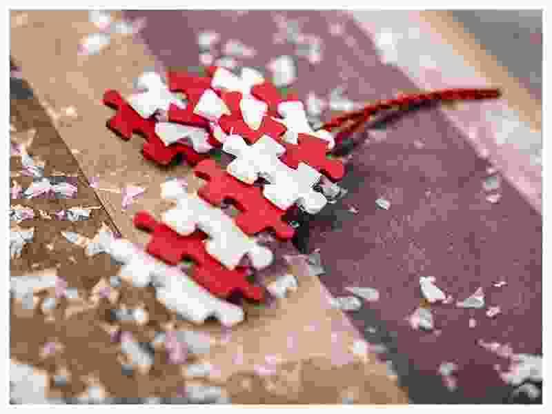 basteln Weihnachten Zuckerstange