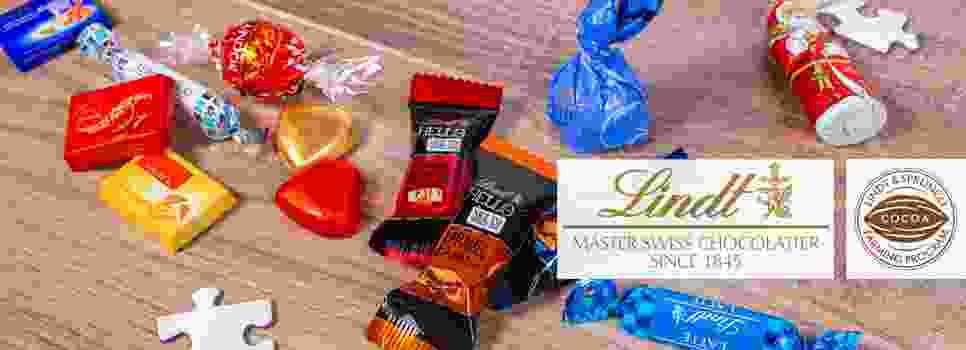 Ausgewählte Schokoladen von Lindt