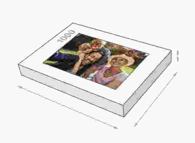 Fotopuzzle mit 1000 Teilen Schachtelgröße