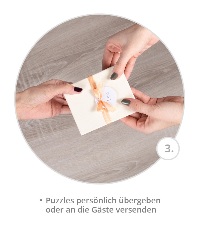 Puzzles mit eigenem Design übergeben oder versenden