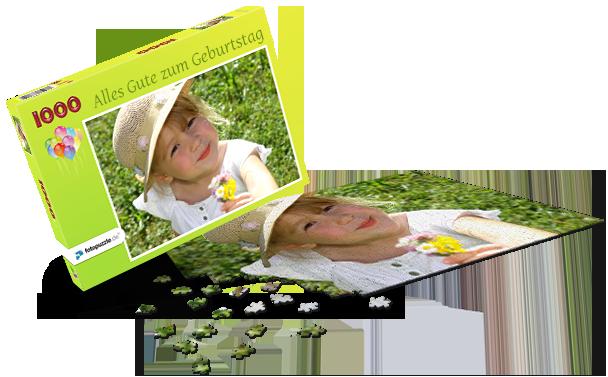 Puzzle-Schachtel Kindergeburtstag