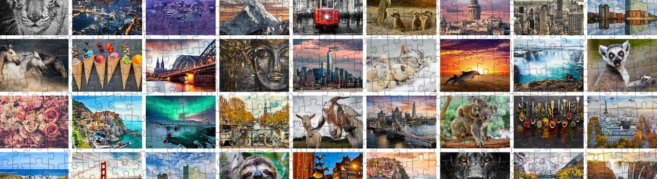 Entdecken Sie verschiedene Puzzle-Motive