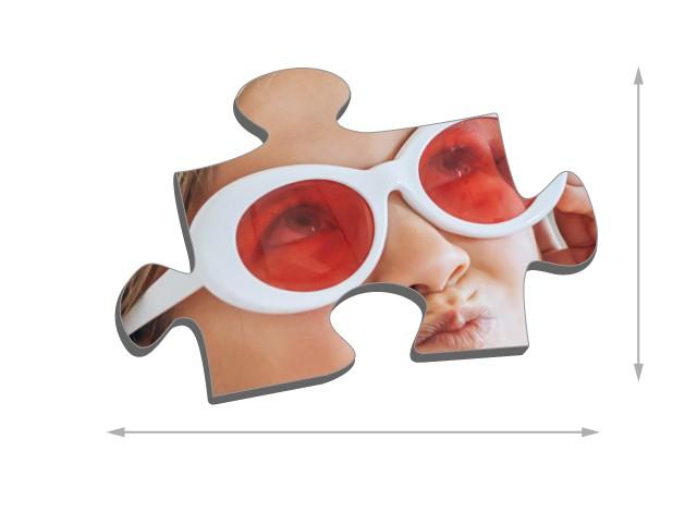 Fotopuzzle mit 48 Teilen Größe der Puzzleteile
