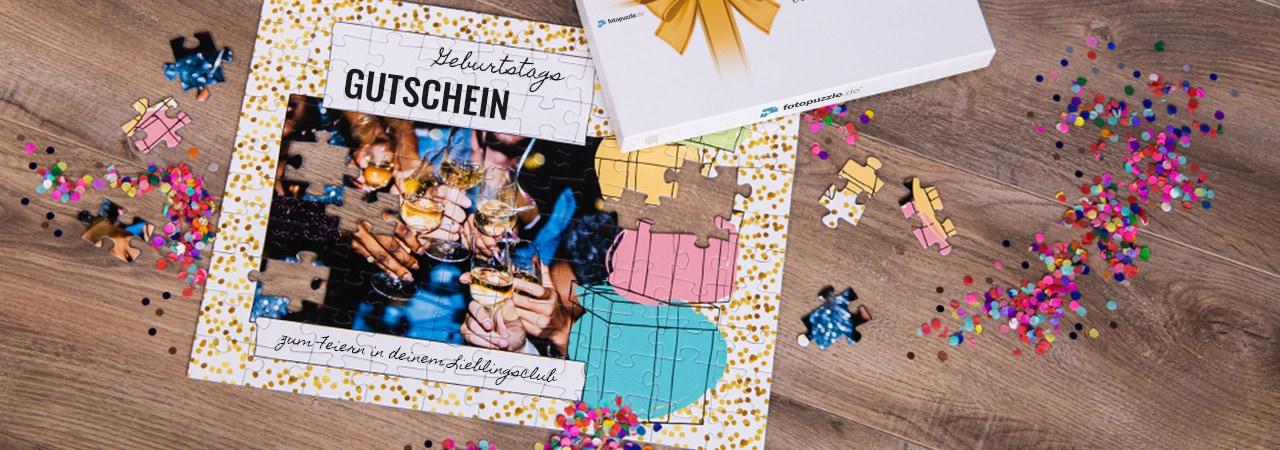 Gutschein als Puzzle zum Geburtstag