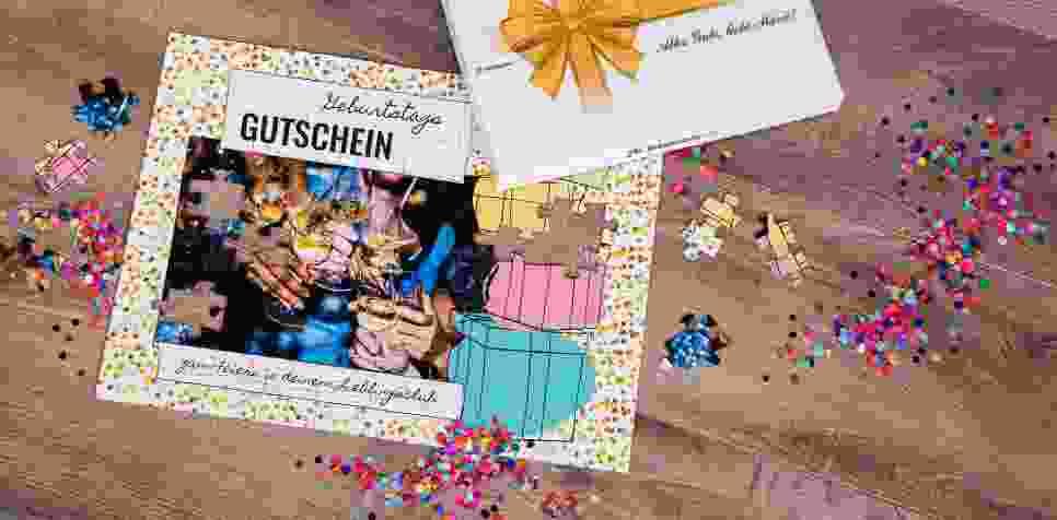 Gutschein kreativ verschenken Geburtstag