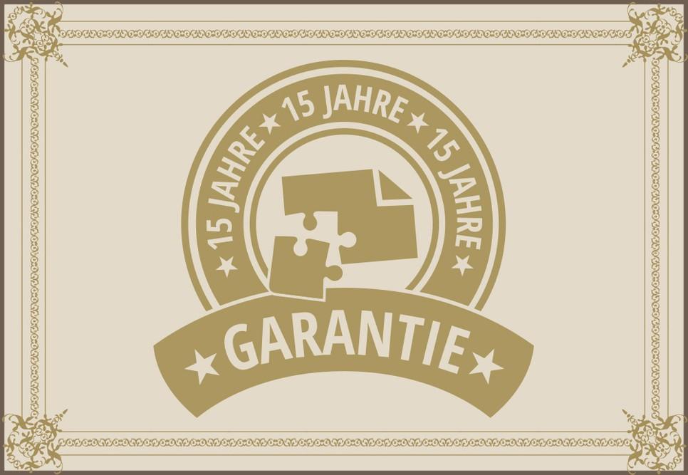 15 Jahre Fotopuzzle Garantie