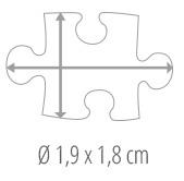Größe Puzzleteil – Fotopuzzle 500 Teile