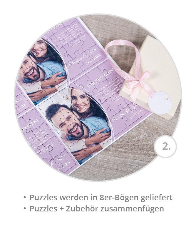 Message-Puzzle: Puzzles im 8er Bogen