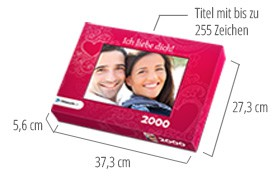 Größe der Puzzle-Schachtel – Fotopuzzle 2000 Teile