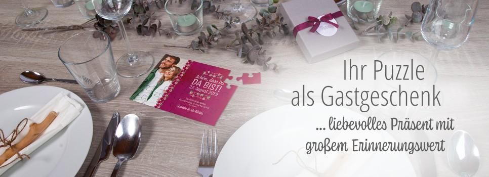 Gastgeschenk Hochzeit auf Hochzeitstafel