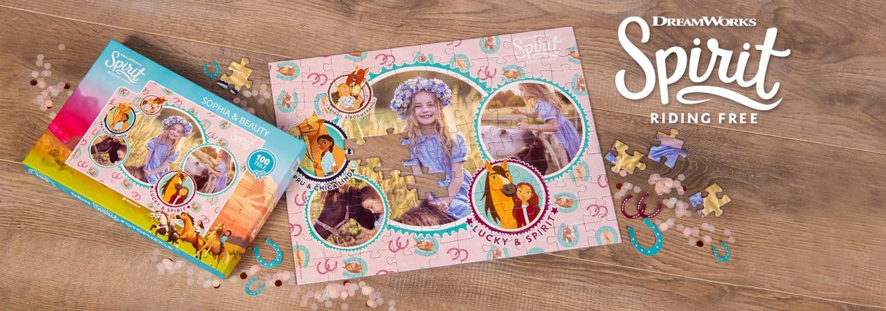 Spirit-Kinderpuzzle mit eigenen Fotos