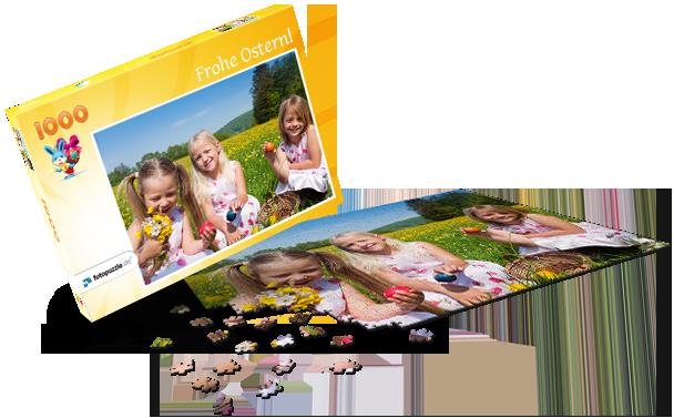 Puzzle-Schachtel Ostern