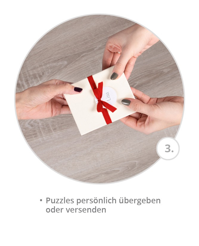 Weihnachtskarten als Puzzle gestalten - Schritt 3
