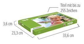 Größe der Puzzle-Schachtel – Fotopuzzle 100 Teile