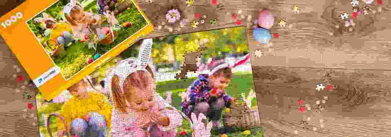 Bewahren Sie Ihre Lieblingsmomente auf einem österlichen Fotopuzzle
