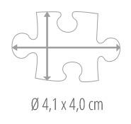 Größe Puzzleteil – Fotopuzzle 24 Teile