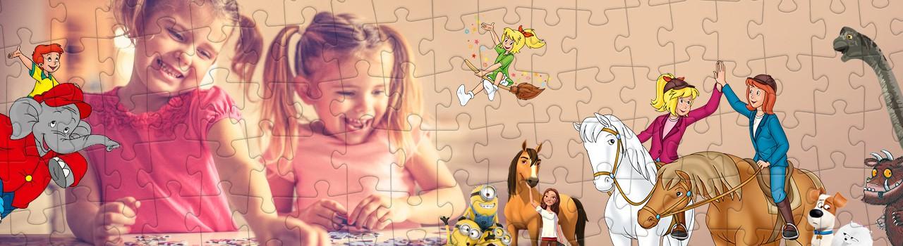 Deine Lieblingshelden und DU - gemeinsam auf einem Puzzle
