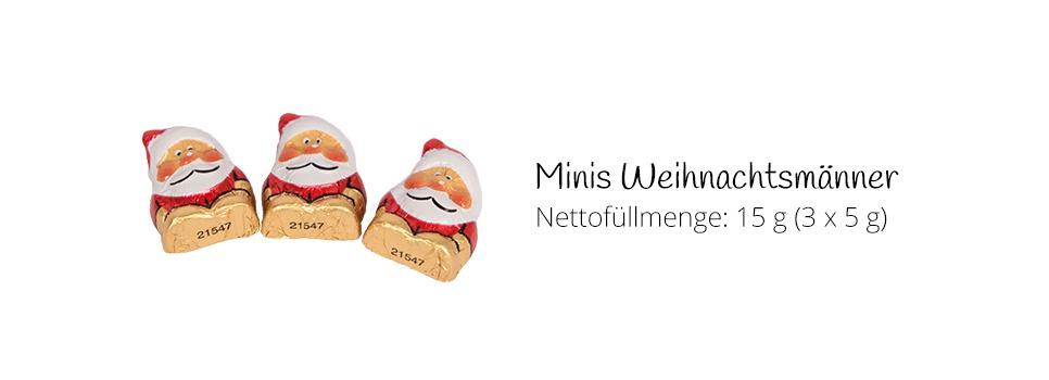Mini-Weihnachtsmänner aus Schokolade
