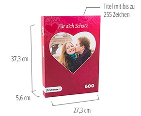 Größe der Puzzle-Schachtel-Fotopuzzle 600 Teile