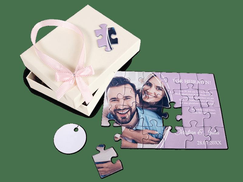 Einladung Puzzle