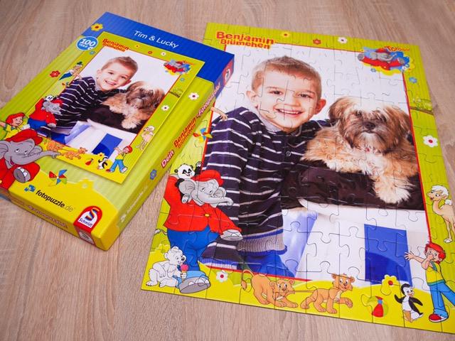 Persönliches Benjamin Blümchen Puzzle mit Schachtel