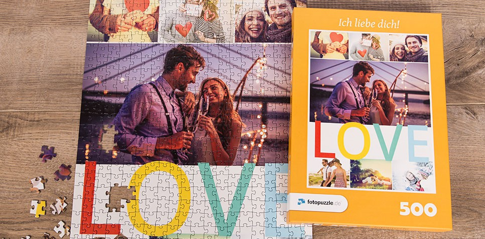 Teaser Fotopuzzle-Collage Botschaft