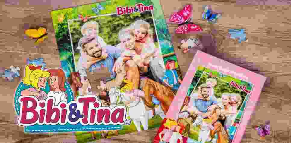 Bibi&Tina-Kinderpuzzle mit eigenen Fotos