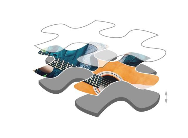 Fotopuzzle mit 100 Teilen Premium Puzzlepappe