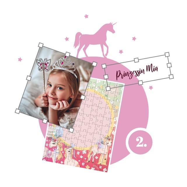 Einhorn-Kinderpuzzle gestalten - Schritt 2