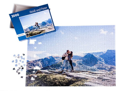 Fotogeschenk personalisiertes Fotopuzzle