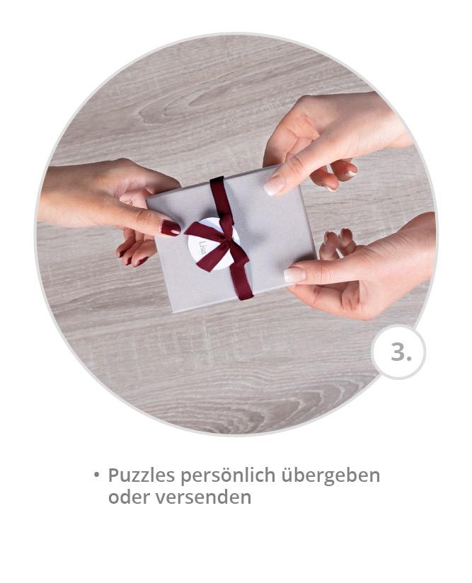 Geburtskarten oder Taufeinladungen als Puzzle gestalten und persönlich übergeben oder versenden