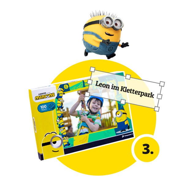 Minions-Kinderpuzzle gestalten - Schritt 3