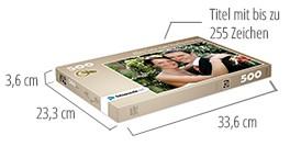Größe der Puzzle-Schachtel – Fotopuzzle 500 Teile