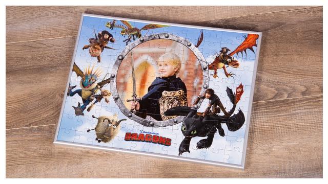 Passender Rahmen für Dragons-Kinderpuzzle