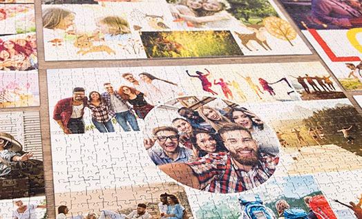 Übersicht der Fotopuzzle-Collagen