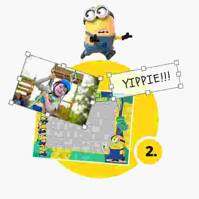 Minions-Kinderpuzzle gestalten - Schritt 2