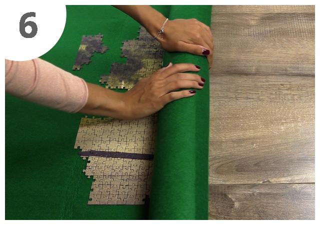 Gebrauchsanweisung Puzzle-Matte Schritt 6