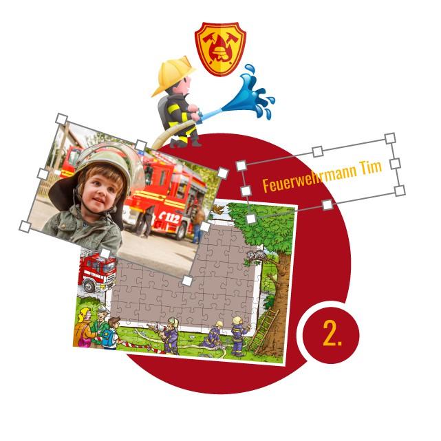 Feuerwehr-Kinderpuzzle gestalten - Schritt 2