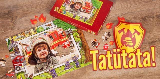 Feuerwehr-Kinderpuzzle mit eigenen Fotos