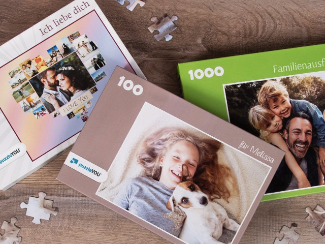 Puzzle-Schachtel für das Fotopuzzle