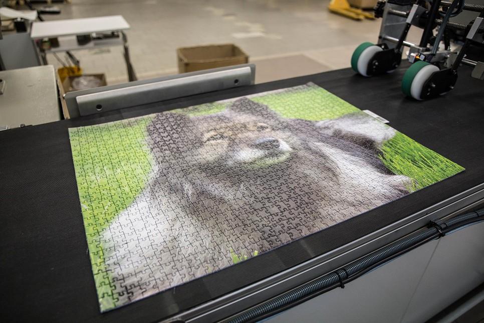 Fotopuzzle stanzen
